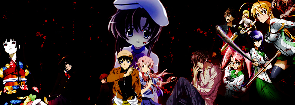 Hallowen anime Horror Mirai Nikki Another Higurashi no Naku Koro ni Shinrei tantei Yakumo High School of the Dead Jigoku Shoujo